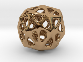 Organic Sphere in Polished Brass