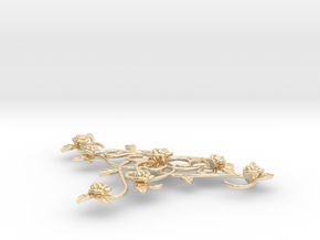 Romantic rose necklace  in 14K Yellow Gold