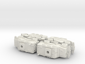 International MaxxPro MRAP Vehicle 1/160 N-Scale in White Natural Versatile Plastic