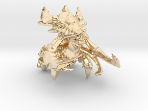 1/350 Ultralisk in 14k Gold Plated Brass