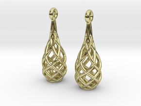 Earring Special A in 18k Gold Plated Brass