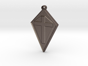 cross101916 in Polished Bronzed Silver Steel