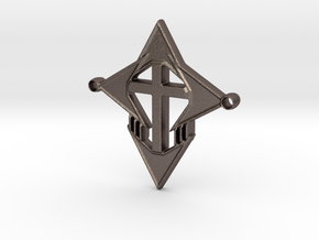 cross101916a in Polished Bronzed Silver Steel