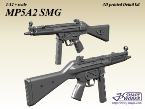 1/12+ MP5A2 SMG in Smoothest Fine Detail Plastic: 1:12