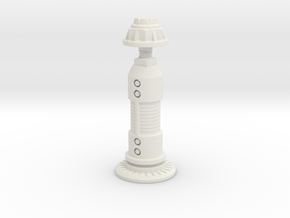 Steampunk King Chess Piece in White Natural Versatile Plastic