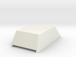 Hood Scoop V1 1/12 in White Natural Versatile Plastic