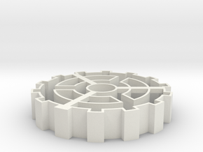 Steampunk gear Cookie Cutter 2 in White Strong & Flexible