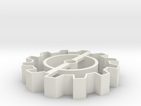 Steampunk gear Cookie Cutter 5 in White Strong & Flexible
