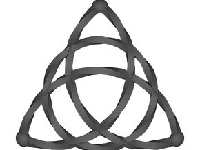 Triquetra Celtic Knot - Medium in White Strong & Flexible