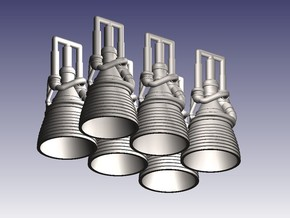 J-2 Engines (1:200 Set of 6) in Smooth Fine Detail Plastic