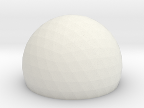 Geodesic Dome Sphere v6 21cm in White Strong & Flexible