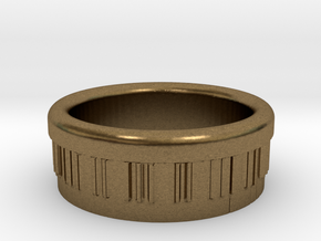 Piano Ring Ø0.805 inch - Ø20.44 mm in Natural Bronze
