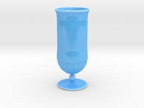 Goblet-style Vase in Gloss Blue Porcelain