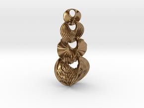 Hyperbole Chain Pendant in Natural Brass (Interlocking Parts)