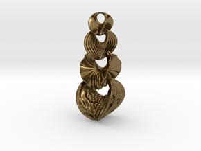 Hyperbole Chain Pendant in Interlocking Polished Bronze