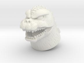 Showa Godzilla Minimate head in White Natural Versatile Plastic