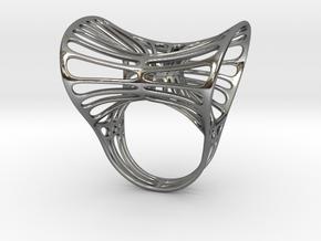 Ring torocentrato leggero in Polished Silver: 5 / 49