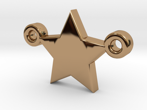 Star Pendant - Size 1,45cm in Polished Brass