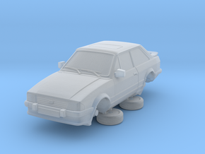 Ford Escort Mk3 1-87 2 Door Xr3i in Smooth Fine Detail Plastic