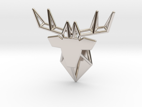 DEER Pendant in Rhodium Plated Brass