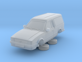 Ford Escort Mk3 1-76 2 Door Large Van in Frosted Ultra Detail