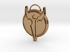 Hero's Pendant in Polished Brass