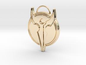 Hero's Pendant in 14k Gold Plated Brass