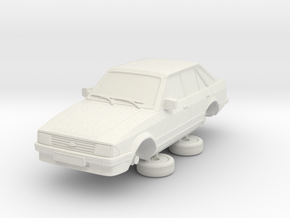 Ford Escort Mk3 1-76 4 Door Standard in White Natural Versatile Plastic