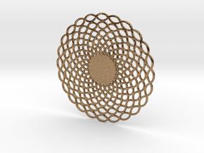 Organic Wave Pendant-hidden Bail in Natural Brass