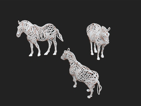 Zebra in White Natural Versatile Plastic