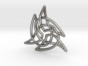 Triquetra 4 in Natural Silver