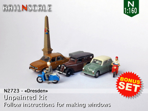 BONUS SET Dresden (N 1:160) in Smooth Fine Detail Plastic