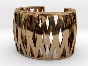 Double-Crossed Cuff in Polished Brass