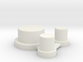 Alpinetech Style Actuators in White Natural Versatile Plastic