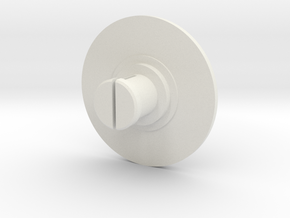 Joystick Top Half in White Natural Versatile Plastic