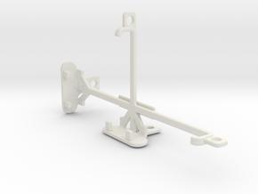 HTC One M9+ Supreme Camera tripod mount in White Natural Versatile Plastic
