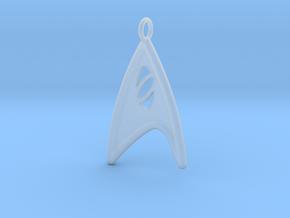 Starfleet Science Badge pendant in Smooth Fine Detail Plastic