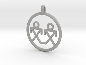 Brothers Symbols Native American Jewelry Pendant in Aluminum