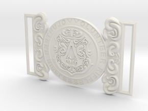 Evie Frye Belt Buckle in White Strong & Flexible