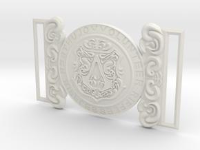 Evie Frye Belt Buckle in White Natural Versatile Plastic