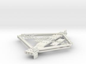 LNER Railbuilt Buffer Stop in White Natural Versatile Plastic