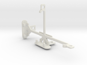 Samsung Galaxy Alpha (S801) tripod mount in White Natural Versatile Plastic