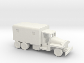 1/200 Scale CCKW Box Truck in White Natural Versatile Plastic