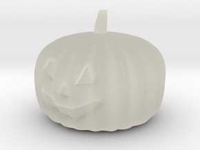 Halloweem pumpkin with flashing RGB LED and CR2032 in Transparent Acrylic