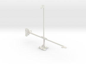 Samsung Galaxy Tab 2 10.1 P5110 tripod mount in White Natural Versatile Plastic
