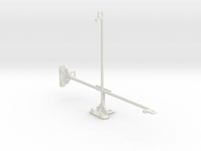 Samsung Galaxy Tab 8.9 P7300 tripod mount in White Natural Versatile Plastic