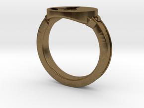 Dark Souls inspired Wolf Ring in Raw Bronze: 7.5 / 55.5