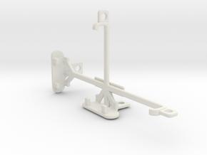 Sony Xperia M2 dual tripod & stabilizer mount in White Natural Versatile Plastic