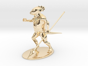 Troglodyte Miniature in 14k Gold Plated Brass: 1:60.96