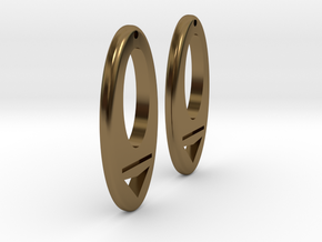 Earring Model I Pair in Polished Bronze